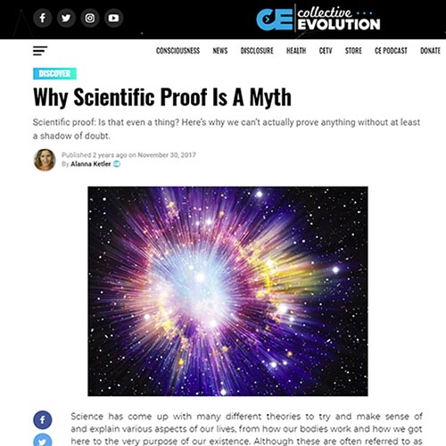 Don't have scientific proof for your beliefs? No problem, just deny that scientific proof exists. If we don't get proof, nobody does!